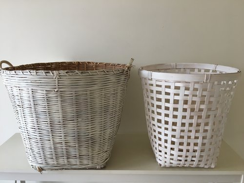 WHITE WICKER BASKETS $5 EACH