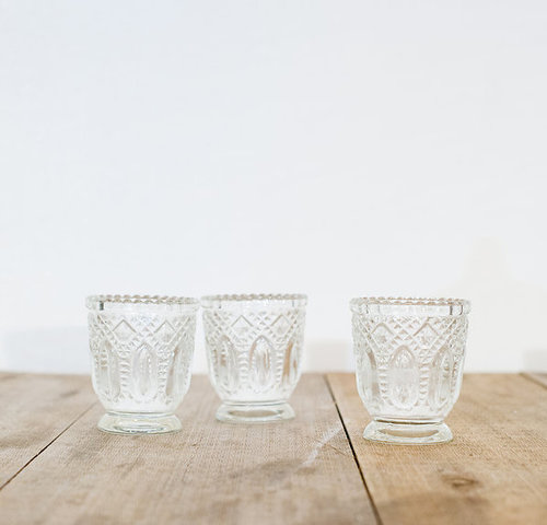 CRYSTAL VOTIVES $3 EACH - 48 avail