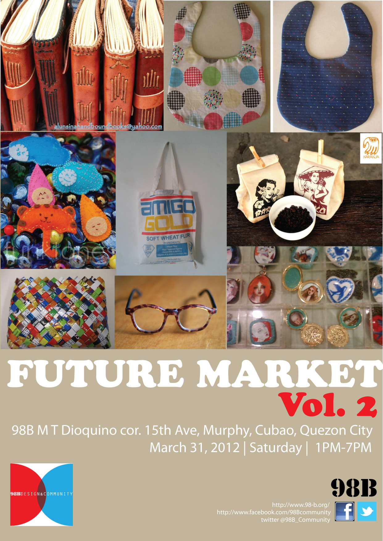 FUTURE MARKET Vol. 2 TODAY!!! March 31, 2012, Saturday, 1-7 PM back to back with a talk by Yumi Roth & Nadine Wasserman presented in cooperation with Tutok Artists Collective at 7PM