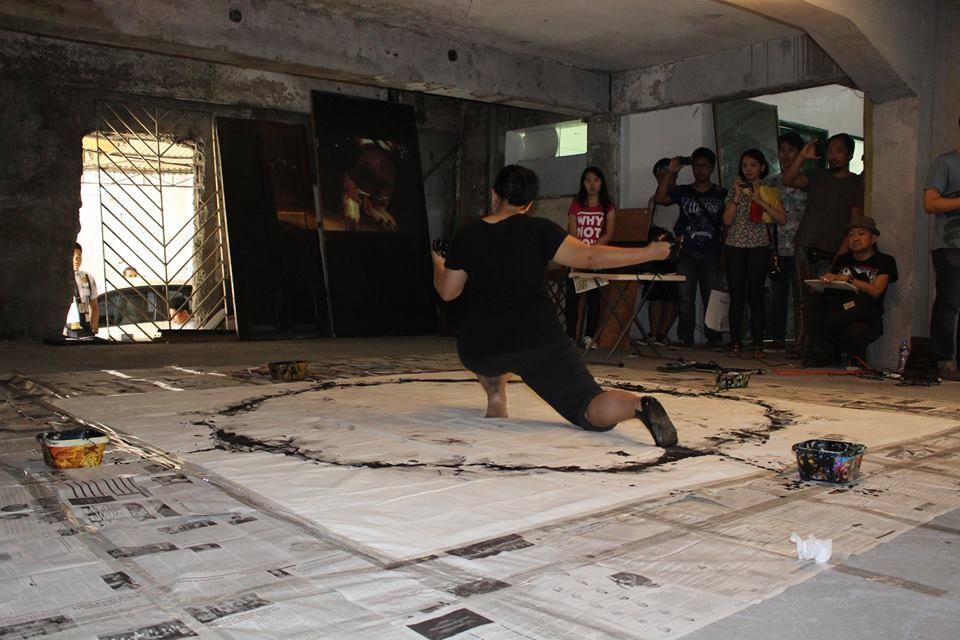 "Mita Santiago during the ""Insomniac"" Performance. Transfuse 2015"