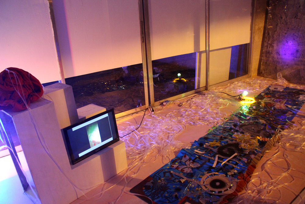 Installation View from Ganggo's 2nd performance; Circle of Trust. PAN/// Project Space, 2015