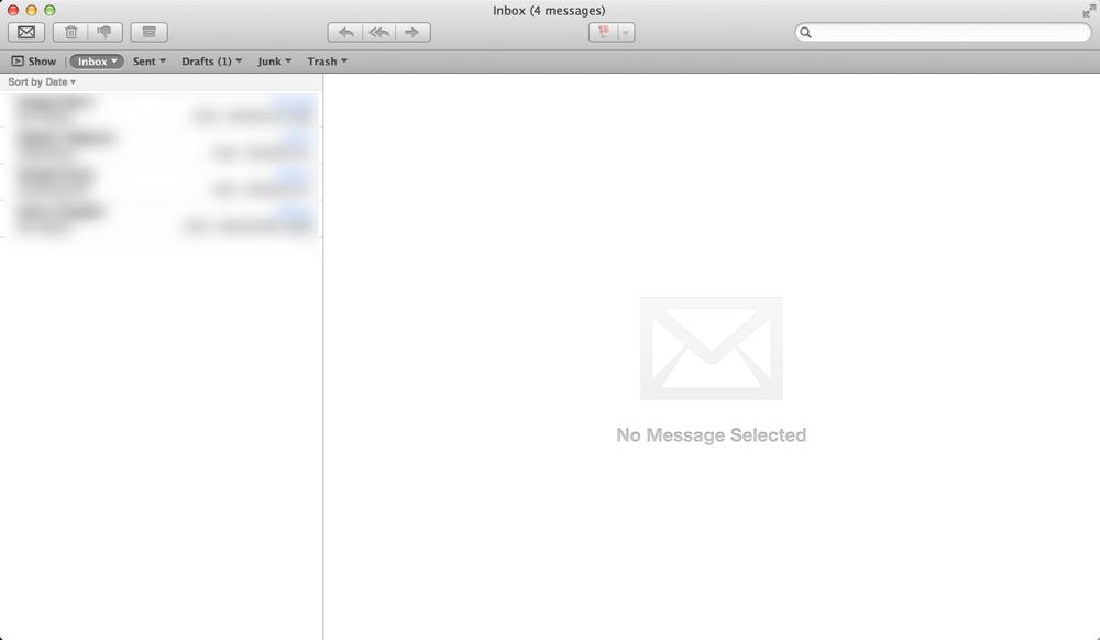Moj inbox, danas