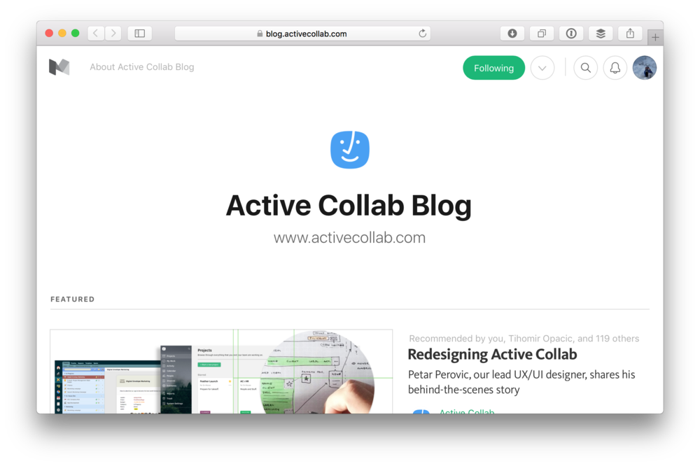 Active Collab @ Medium