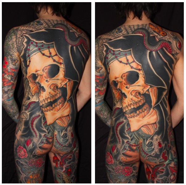 Finished Reaper Tattoo Back Piece For Zac — Chris ODonnell