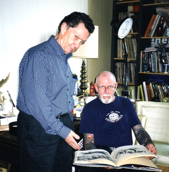 Photo of Ed Hardy and Bob Roberts taken from his blog