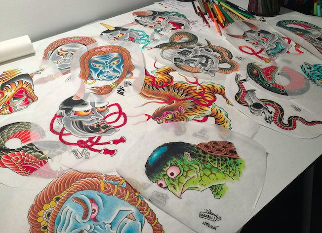Tattoo designs by Chris O'Donnell 2015