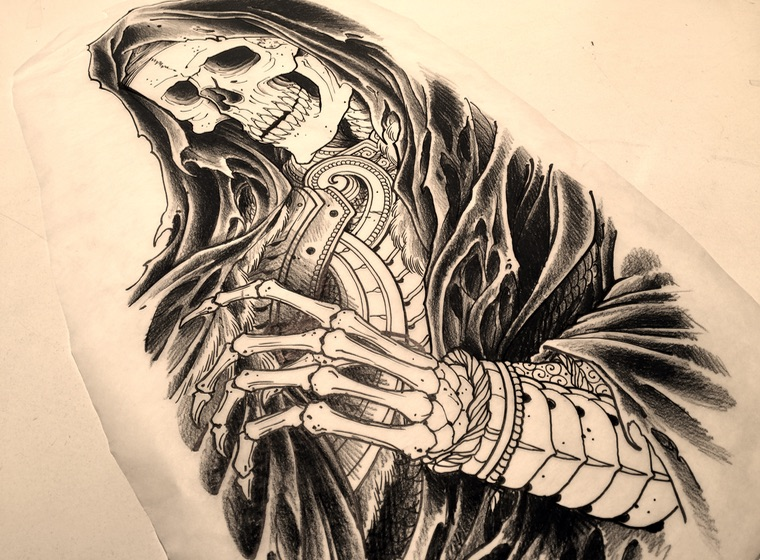 Tattoo drawing by Chris O'Donnell 2017