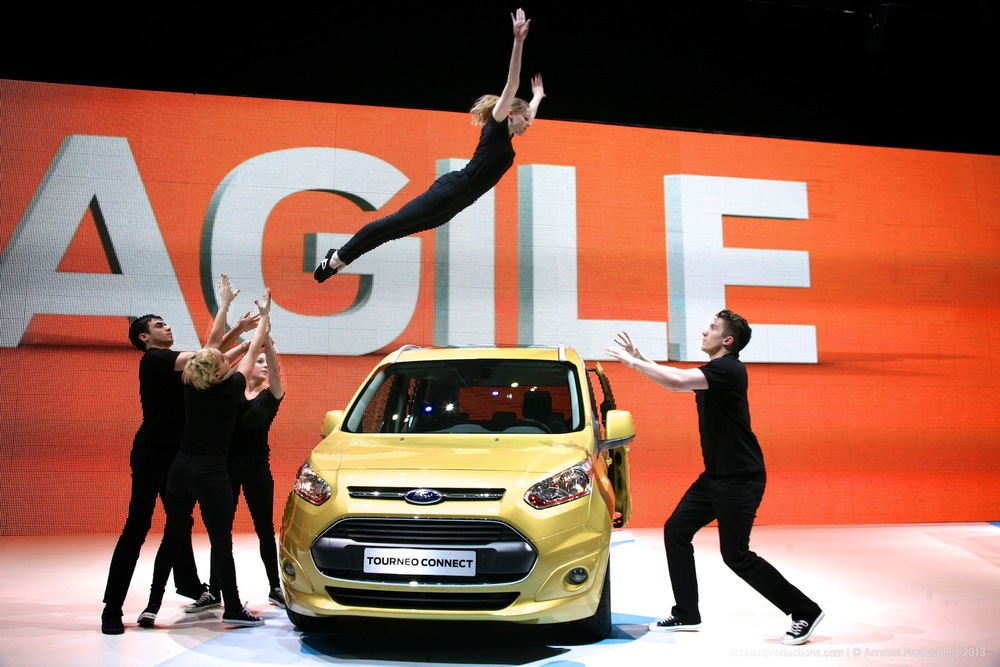 Acrobat Productions at Geneva Motor Show