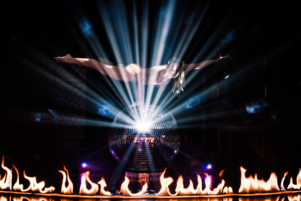Valerie Murzak Mirrorball Act with Fire