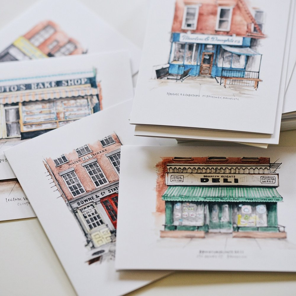 NYC Storefront Series Notecards | $70