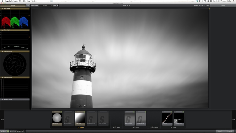 Color grading the lighthouse