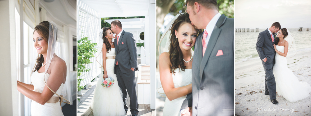 Rose & Johnny's beachside wedding at the Boca Bay Pass Club in Boca Grande, FL with Caroline Maxcy Photography