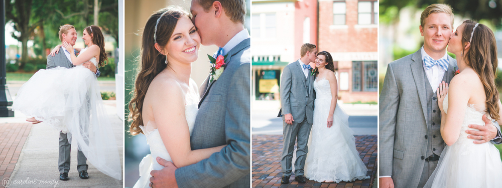 Elic and Amanda's Sebring, FL wedding with Caroline Maxcy Photography.