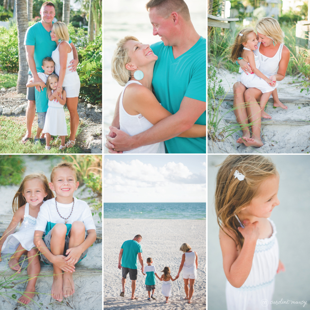 Anna Maria Island and Holmes Beach Family Photography with Caroline Maxcy Photography.
