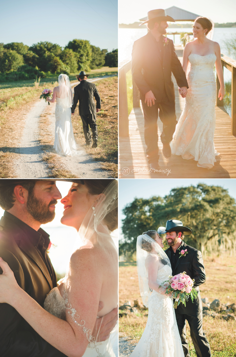 Jamie and Cory's lakeside wedding in Avon Park, FL with Caroline Maxcy Photography