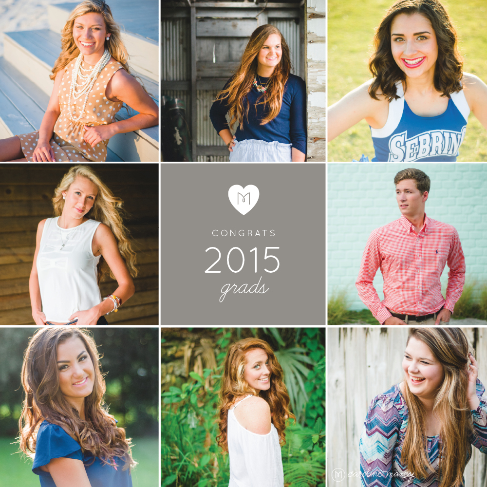 Central Florida Senior Photography with Caroline Maxcy Photography.