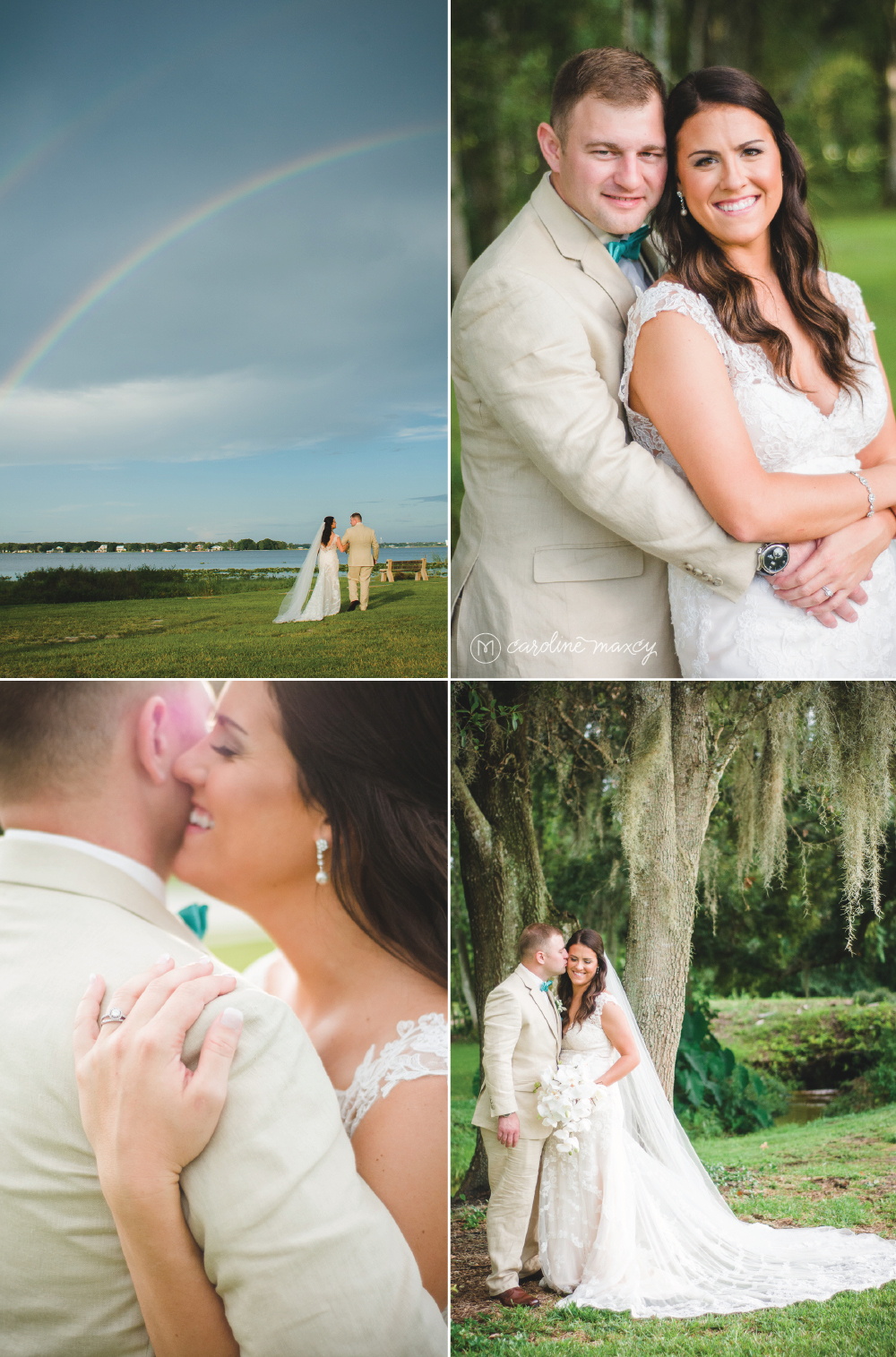 Sebring, FL Lakeside Wedding Photography with Caroline Maxcy Photography