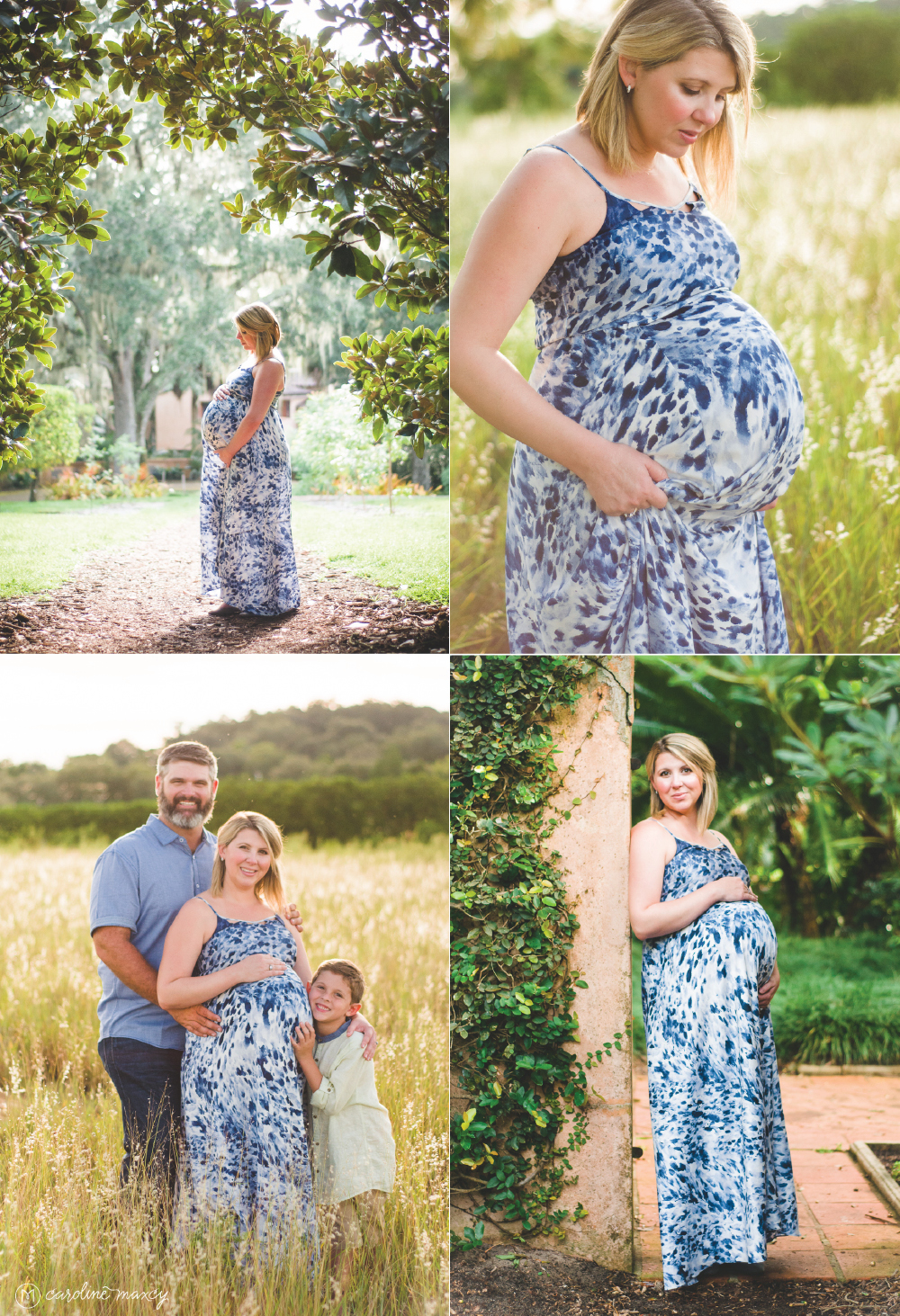 Bok Tower Gardens in Lake Wales, FL Maternity Photography.
