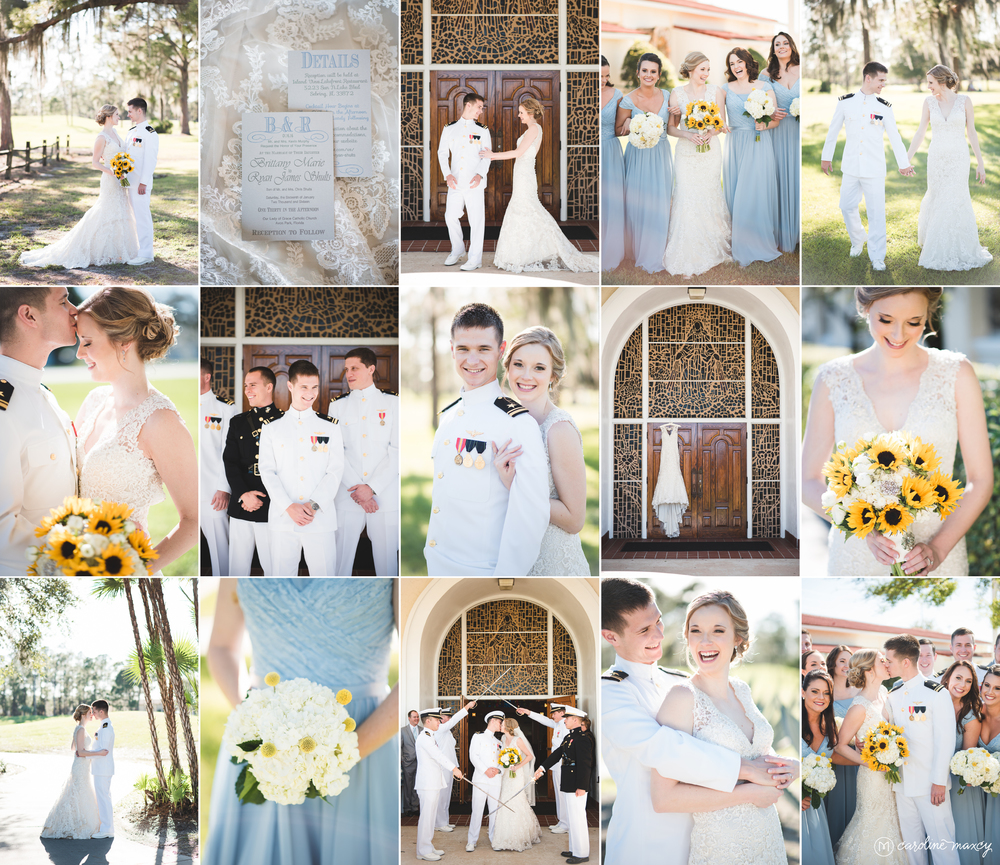 Brittany + Ryan — Sebring, FL Military Wedding Photography with Caroline Maxcy Photography.