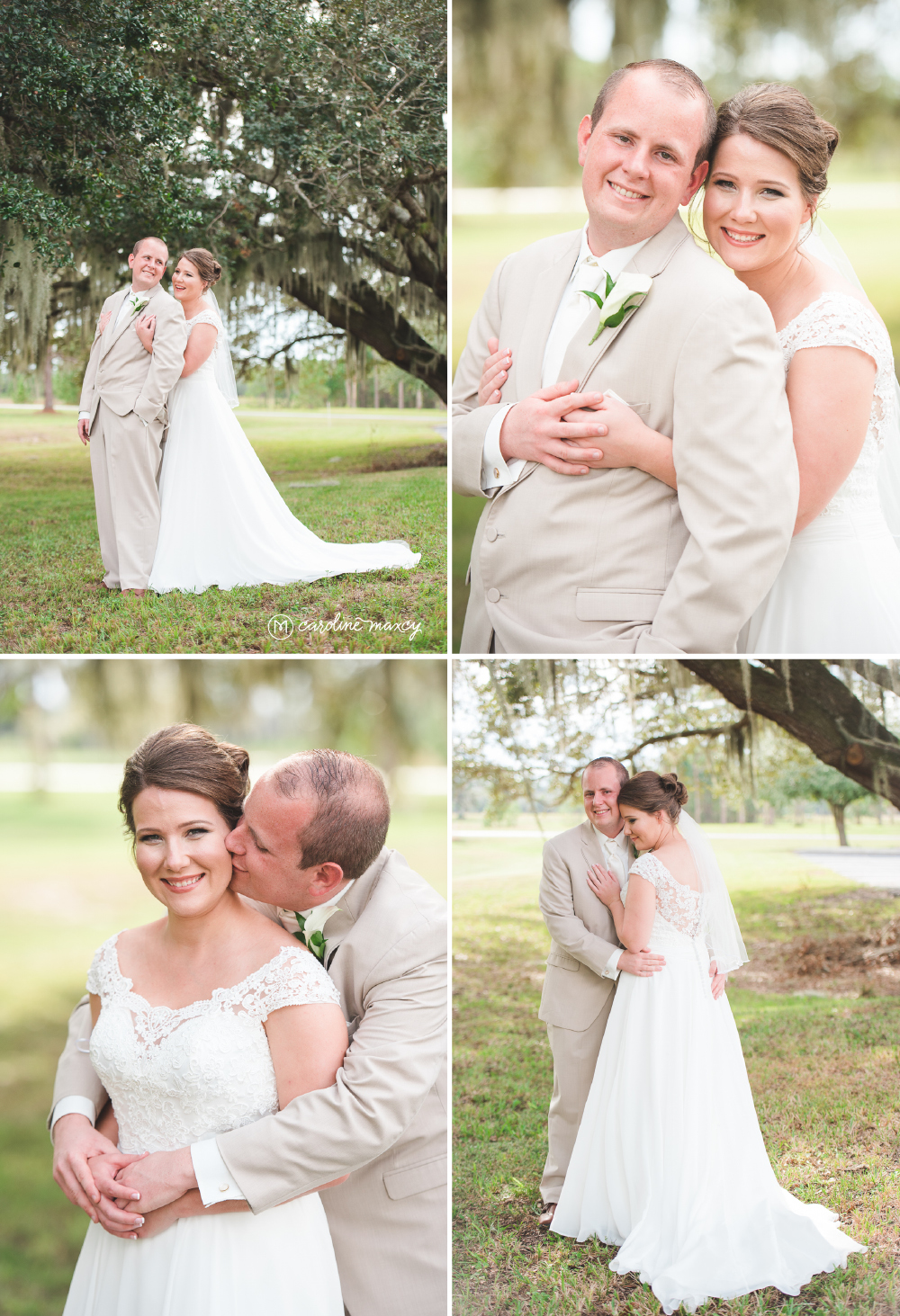 Mary Craig and Jerry Lee wedded bliss! Sebring, FL Wedding Photography with Caroline Maxcy Photography.