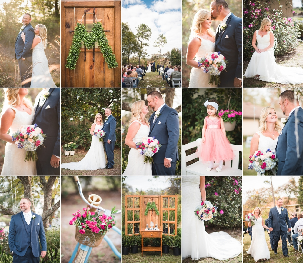 Stephanie + Bubba — Sebring, FL Backyard Wedding Photography with Caroline Maxcy Photography.