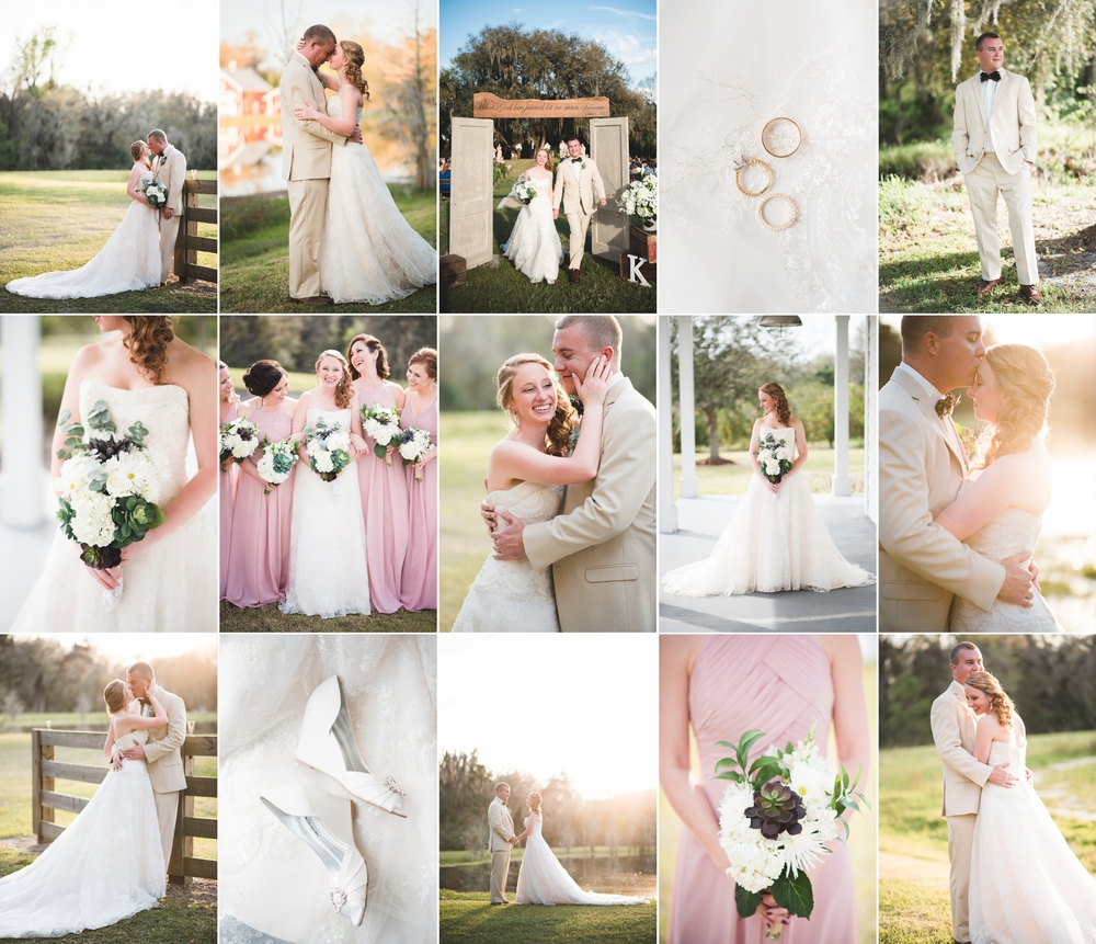 Chelsea and Michael tie the knot! Wauchula, FL backyard southern wedding photography by Caroline Maxcy Photography.