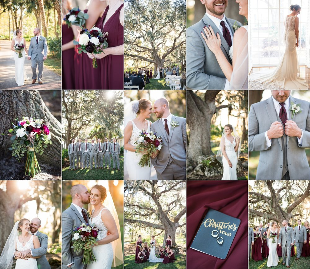 Christine + Dan – Intimate Backyard Lakeside Lake Placid, FL Wedding with Caroline Maxcy Photography