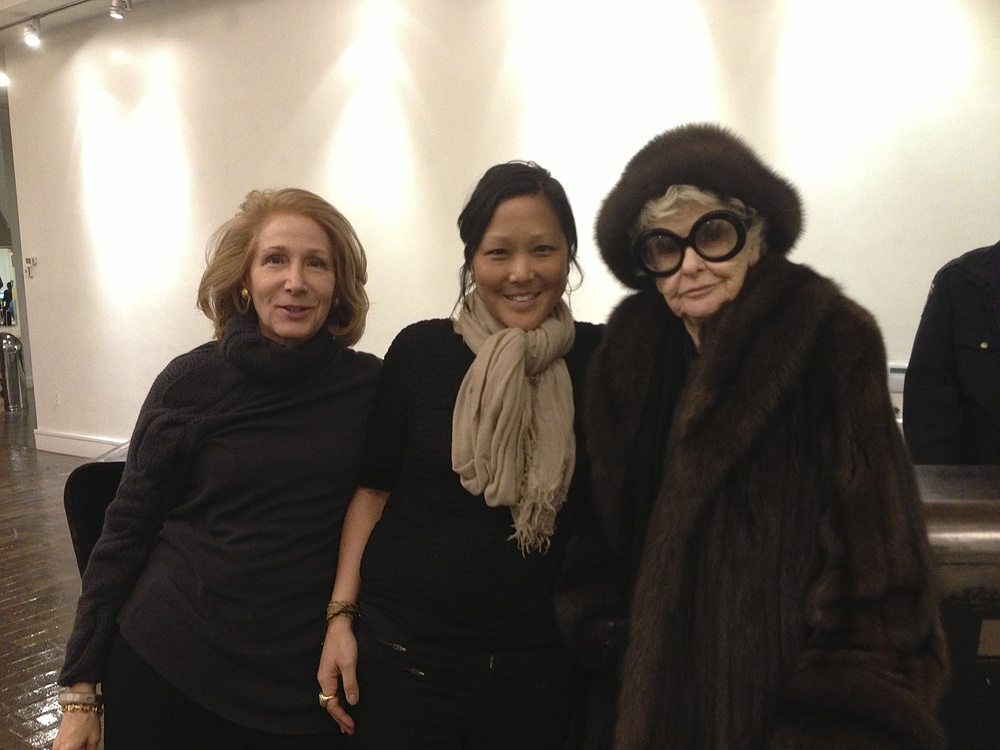 Elizabeth Hemmerdinger, Chiemi Karasawa & Elaine Stritch at the private screening of Elaine Stritch: Shoot Me