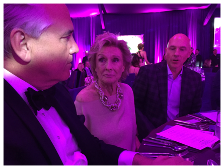 Vin Roberti, Cloris Leachman, and Tom Vogel (Photo: Elizabeth Hemmerdinger)