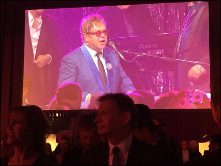 Elton John on February 22, 2015.