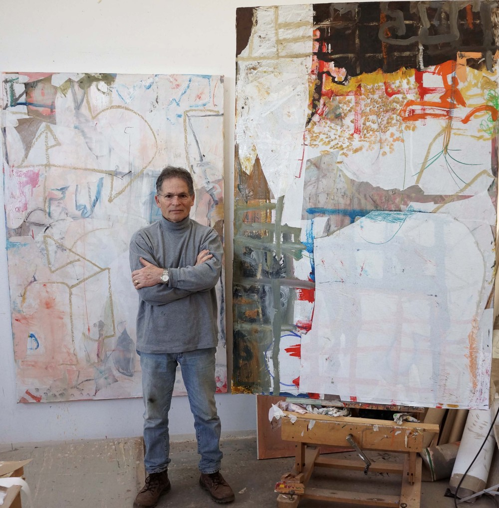 10/4/12 in my studio with 2 new paintings