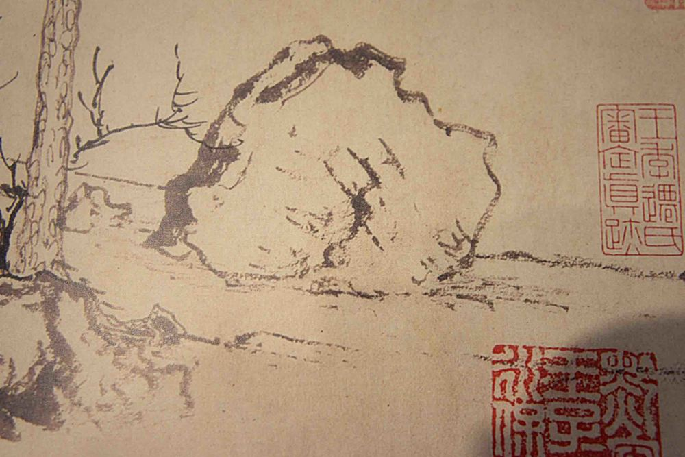 mengfu:  twin pines, level distance   handscroll, ink on paper ca.1300