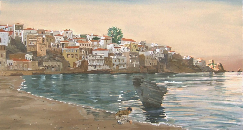 searching at paraporti  40x76 cm.  sold. commission possible