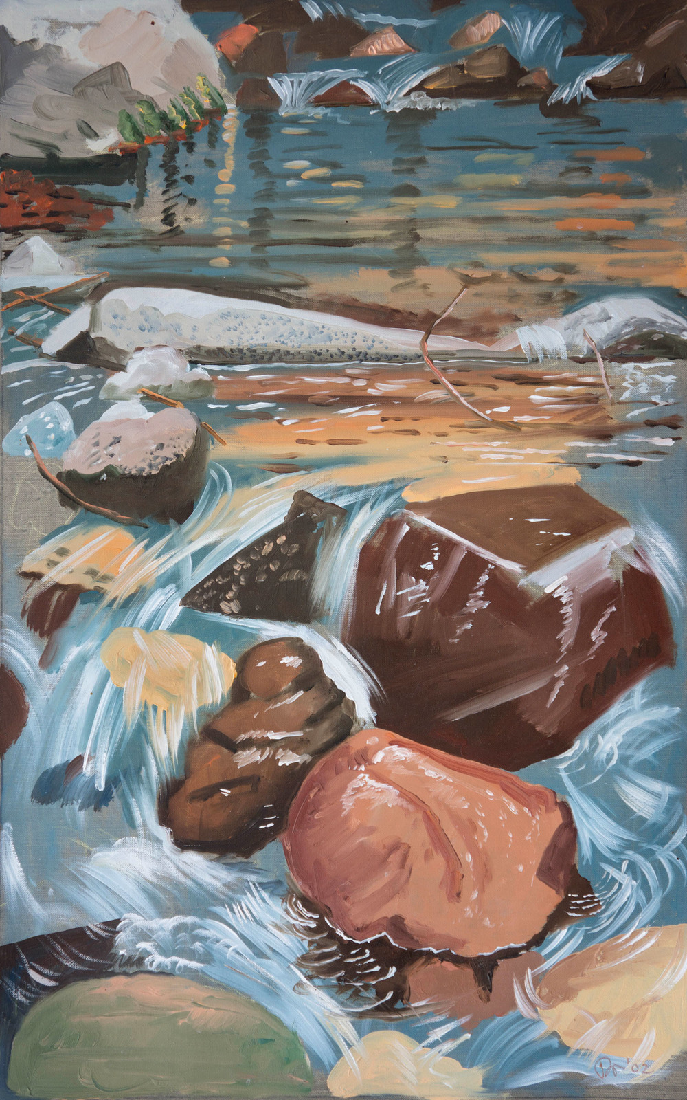 2002  rocks and water  51x32 inches