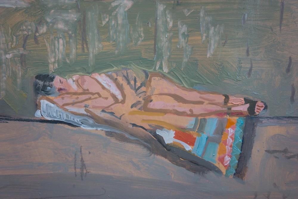 DETAIL:  woman sleeping, yialia beach