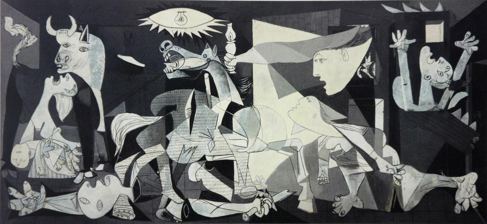 picasso:  guernica 349x777 cm. 1937