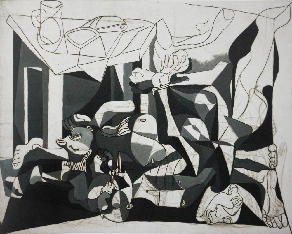 picasso:  the charnel house  199.8x250.1 cm.  1944-5