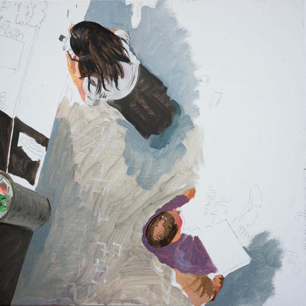 """STAGE 2:  best left unsaid  7 16x16"""" oil on portrait linen"""