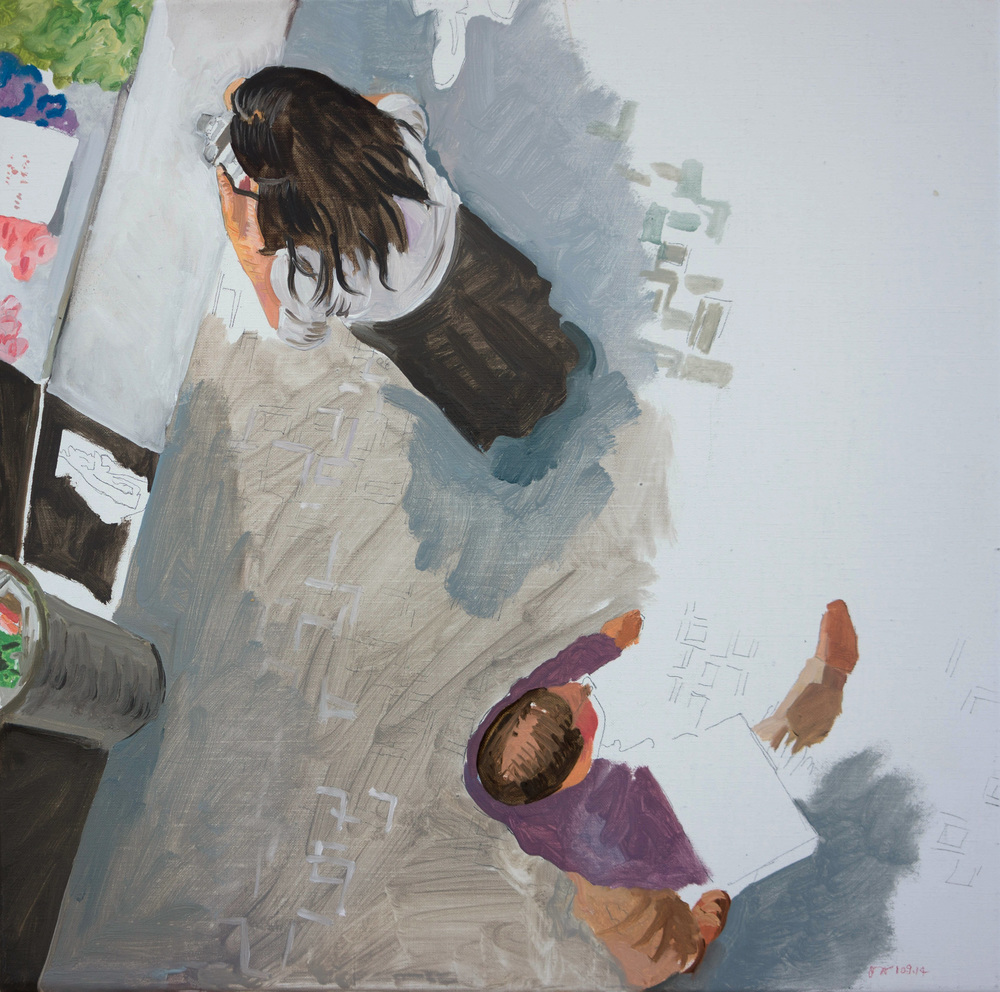 """best left unsaid 7  16x16"""" oil on portrait linen"""