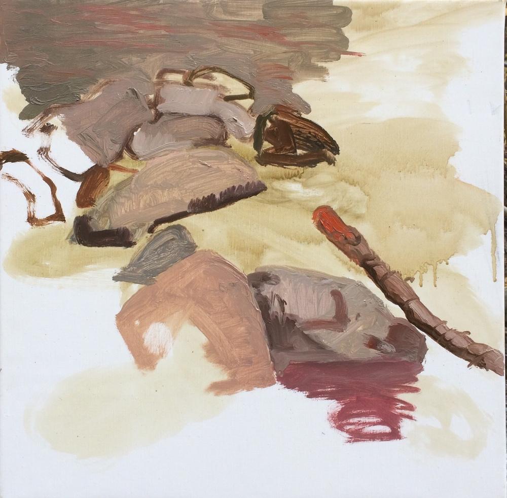 """10/17/14 north crestone cree k 16x16"""" oil on portrait linen"""