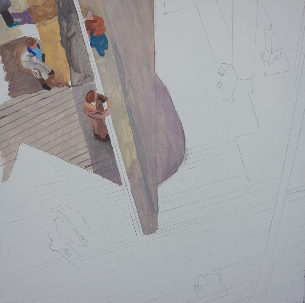 """WORK IN PROGRESS:  best left unsaid 10   16x16"""" oil on portrait linen"""