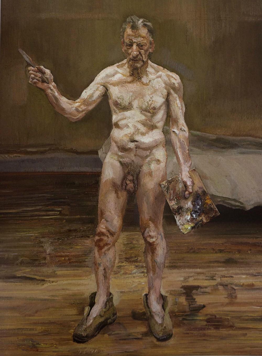 lucien freud nude portrait