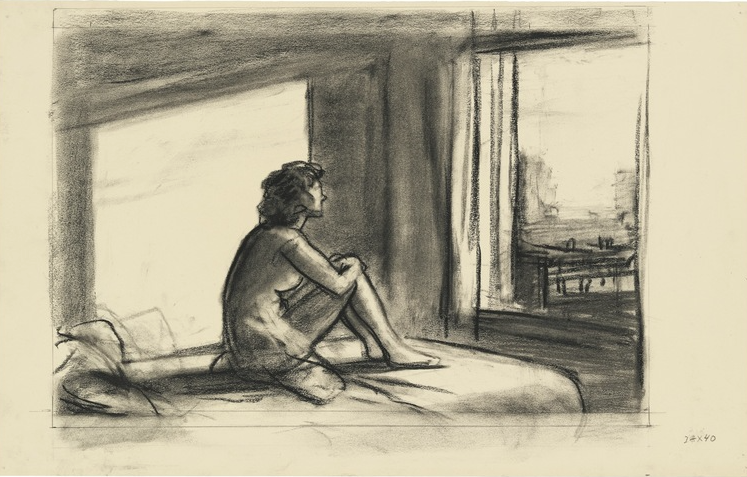 study for sun in an empty room, 1952