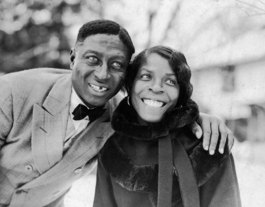 huddie ledbetter (leadbelly) & his wife