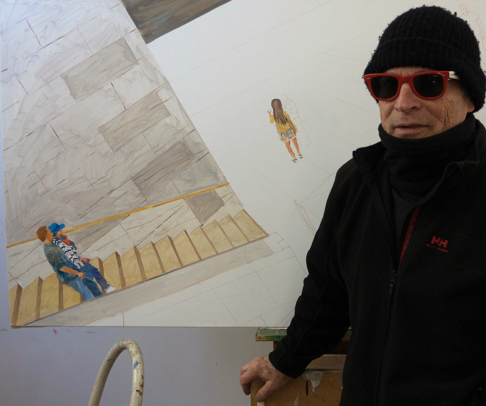 with the in-process  parade 25  just after arriving in my studio