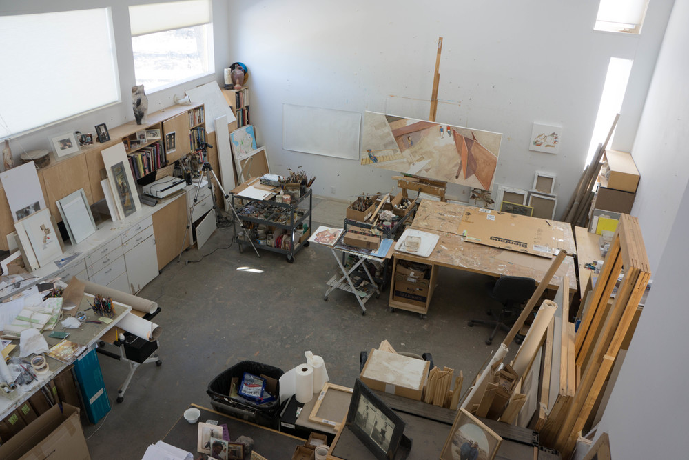 my studio is looking larger, less cluttered every day thanks to mikela