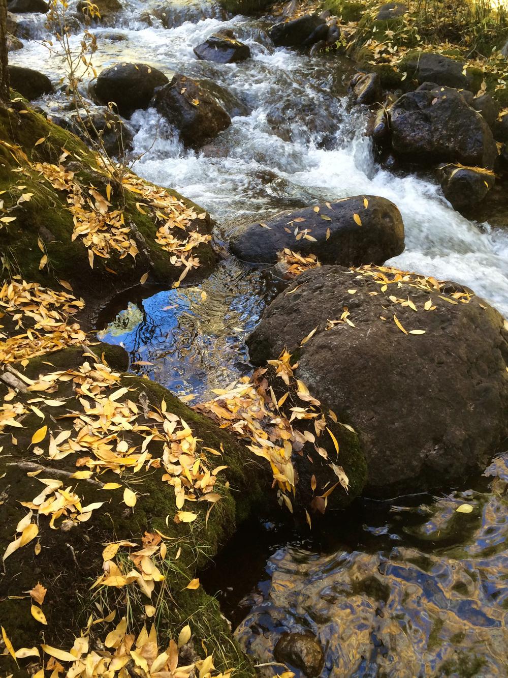 north crestone creek in early november, 2014