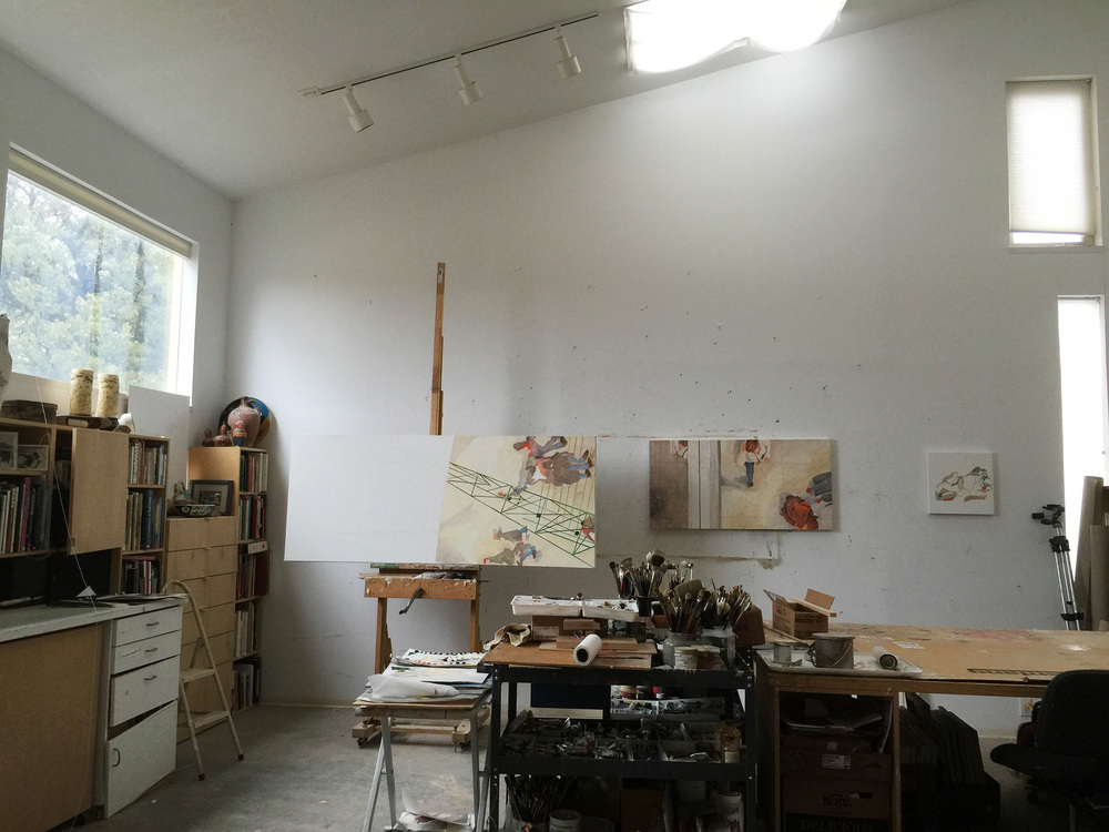 the studio as it looked upon re-entering this morning, and before resuming work on  parade 34