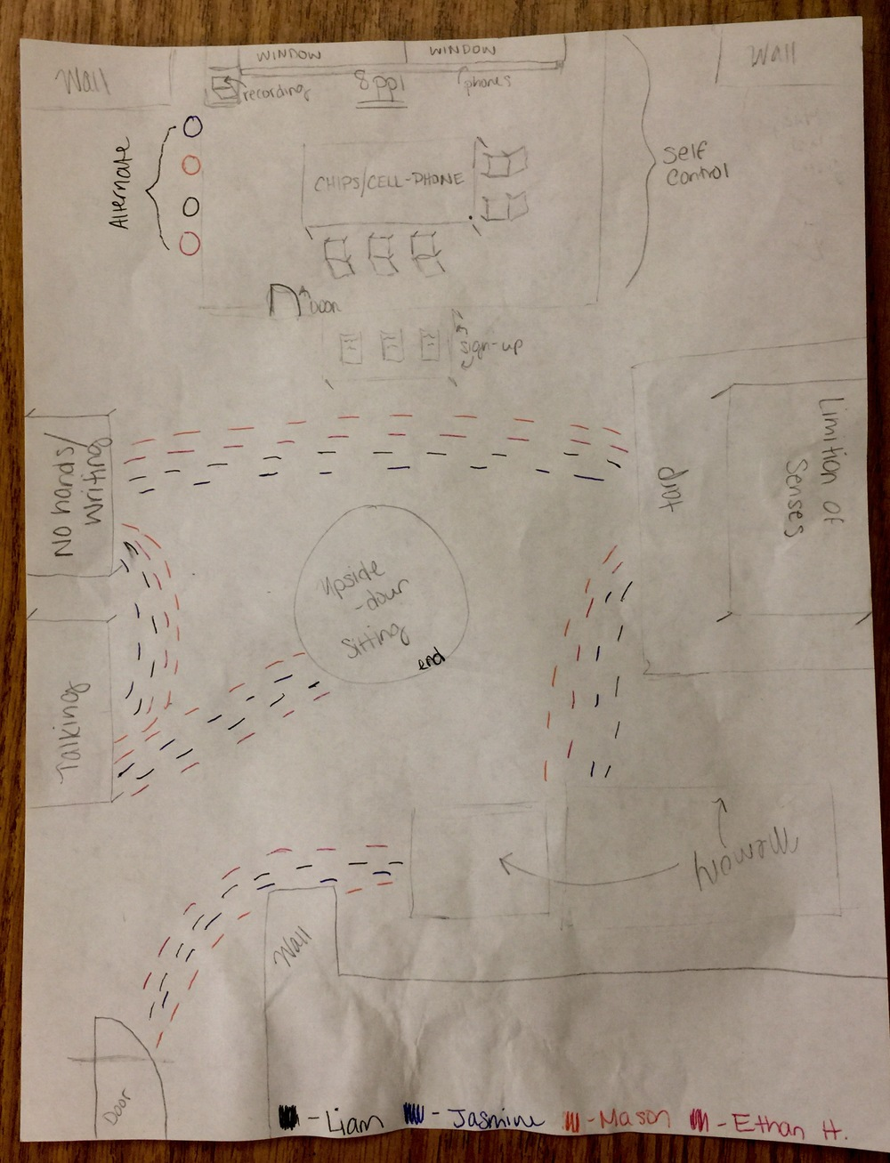 one of the the students made this beautiful drawing mapping out their project presentation.