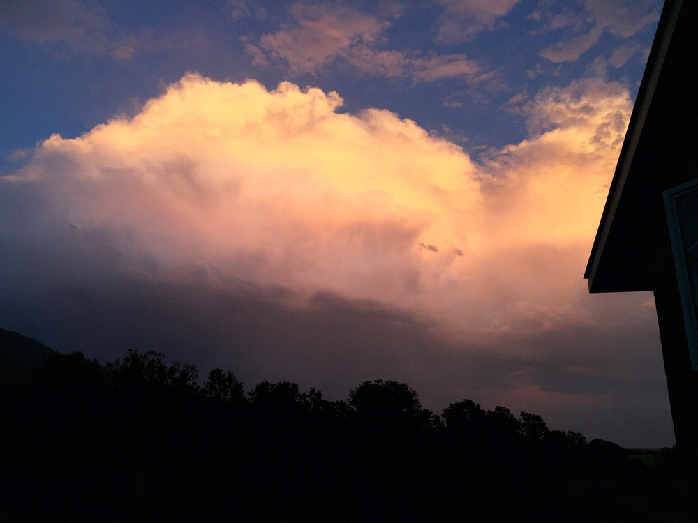 8:35 pm last night, a storm develops to our south